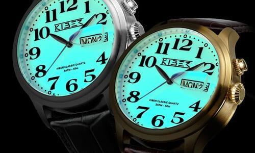 kiber-watches-categorie-iluma horloges voor slechtzienden. Een echt nachthorloge