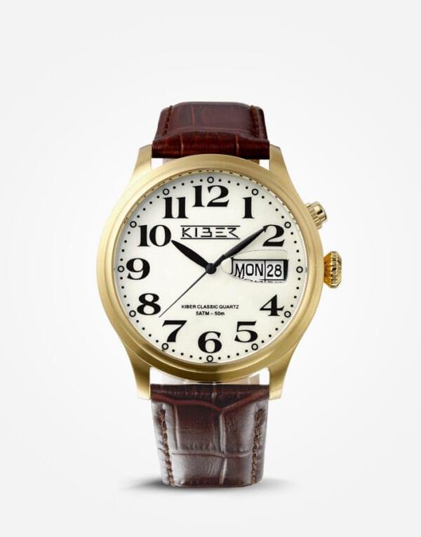 Kiber goud horloge grote cijfers voor slechtziende