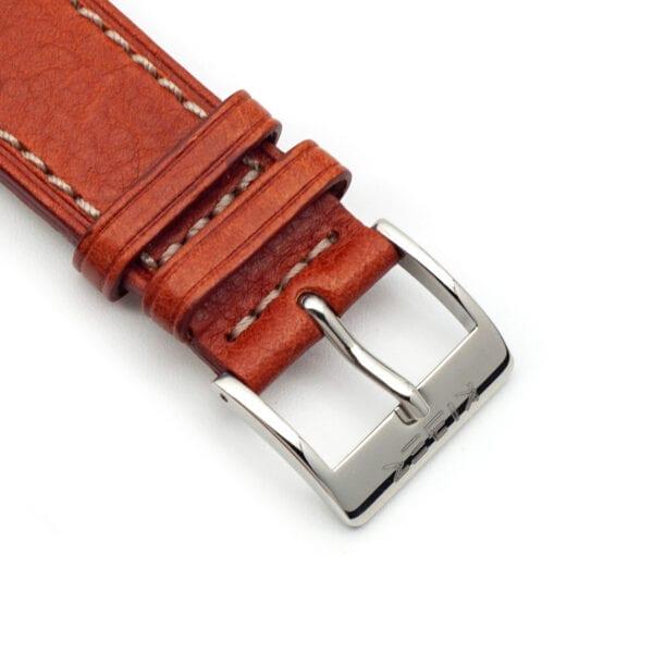 Horlogeband leder cognac 22mm detail