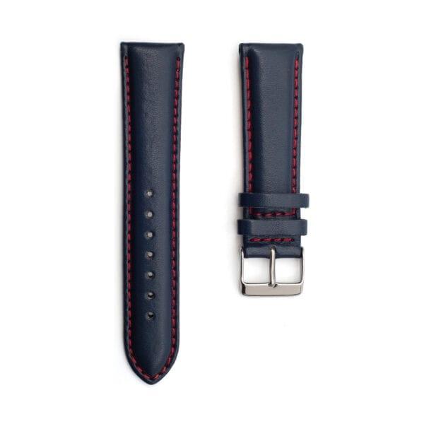 Horlogeband leder blauw Silverstone 22mm