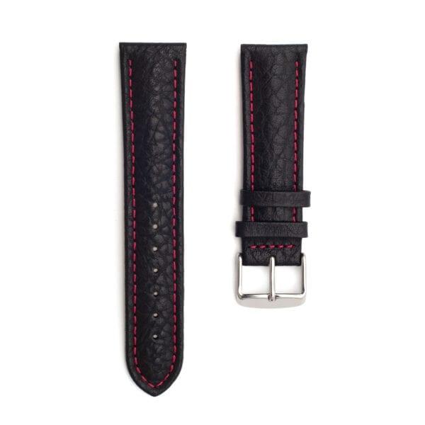Horlogeband leder zwart Specchio 22mm