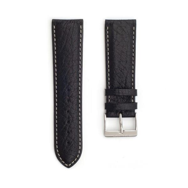 Horlogeband leder zwart toro 24mm